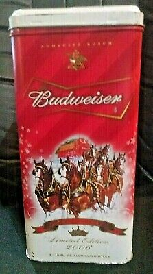 $ CDN11.32 • Buy Budweiser Clydesdale Tin Metal Hinged Lid Box Holiday Limited Edition  2006
