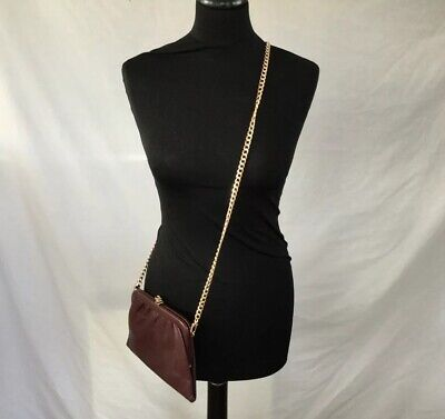Womens Small Brown Cross Body Bag With Gold Chain By Jane Shilton Used Once • 3.90£