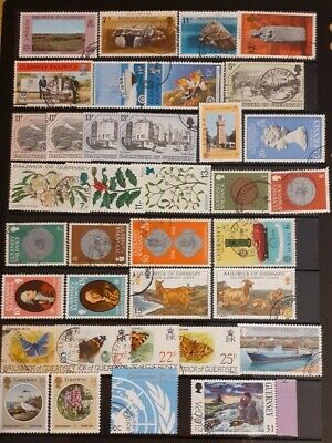 36 Stamps From Guernsey • 0.99£