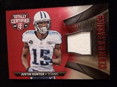 $0.99 • Buy 2014 Totally Certified Justin Hunter Certified Fabrics Patch  /100 Sp (p60)