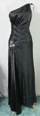 $44.98 • Buy 1-Shoulder Black S Evening Gown Formal Dress PROM Pageant CHICAS Gala Ball NWT