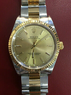AU6999 • Buy Superb 2001 Rolex Oyster 18K & Stainless-Steel Men's 14233M (Serviced March 19)