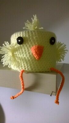 Yellow Chick Toilet Roll Cover Hand Crochet Acrylic Wool • 4.99£