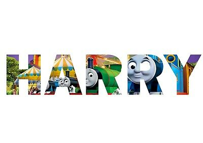 Personalised Thomas The Tank Engine Name Bedroom Wall Artwork Gift • 5.99£