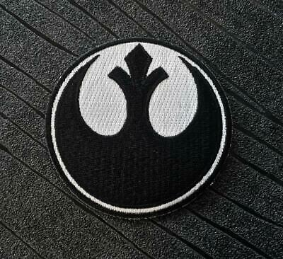 Star Wars Rebel Alliance Black Embroidered Iron On Patch (75mm) • 3.50£