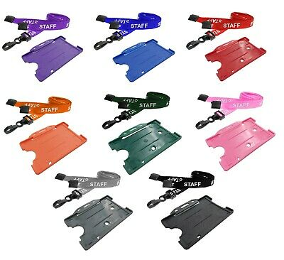 £1.99 • Buy STAFF Neck Strap Lanyard With ID Card Pass Badge Holder CHOOSE COLOUR FREE P&P!!