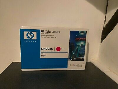 HP Genuine Q5953A Magenta Toner Cartridge Laserjet 4700 Colorsphere Sealed New • 89.95£