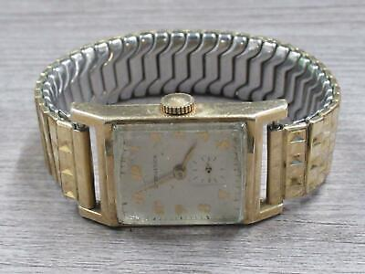 $ CDN69.30 • Buy Longines Gold Tone Costume Jewelry Wrist Watch Stretch Band Untested Vintage