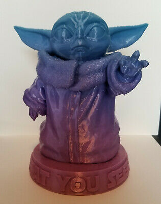 $19.99 • Buy Baby Yoda 3D Printed Figure Fan Art Mandalorian 6  Tall Figurine MULTICOLOR