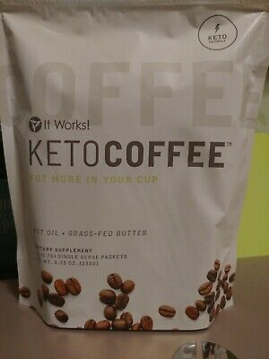 $32 • Buy Brand New It Works Keto Coffee 15 Packets MCT Oil Grass-Fed Butter Supplement