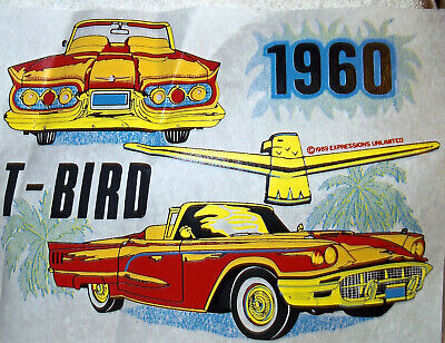 £7.28 • Buy 1960 Ford T-Bird Convertible Vintage 80's  T-Shirt Transfer