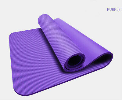 AU29.95 • Buy Yoga Mat Pilates Fitness Exercise Gym 1cm Thick 10mm Thickened Purple