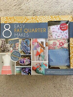 New Easy Fat Quarters - Sewing Project Book - 5 Fat Quarters Material Multi • 9.90£