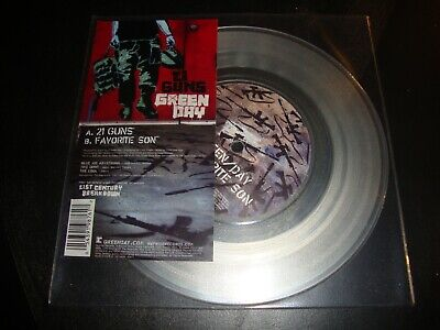 Rare GREEN DAY - 21 Guns CLEAR VINYL 7  Single LIMITED EDITION W817 • 24.99£