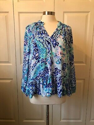 $10 • Buy Lilly Pulitzer Long Sleeve Dressy Top Small