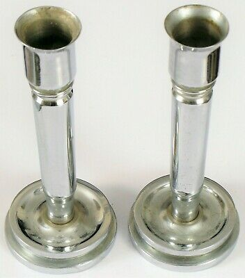£91.62 • Buy Wwii Era Chrome Trench Art Candle Sticks Candlesticks 40mm Mk2 Bullet Shell .50