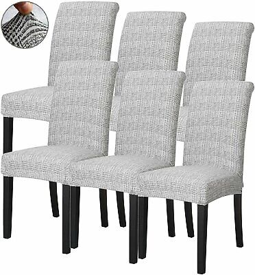 AU36.09 • Buy 6 Soft Stretch Dining Chair Cover Removable Slipcover Washable Banquet Furniture