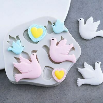 £7.63 • Buy Love Dove Of Peace Silicone Mold Fondant Mould Cake Sugarcraft Decorating Tools