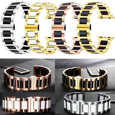 $ CDN23.22 • Buy Luxury Stainless Steel Band Strap For Apple Watch Series 5 4 3 2 1 Watch 44mm