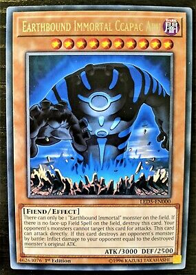 YuGiOh Earthbound Immortal Ccapac Apu Rare LED5-EN000 1st Edition NM • 1.08£