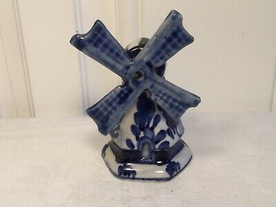 £6.99 • Buy Delft Blue Hand Painted Windmill