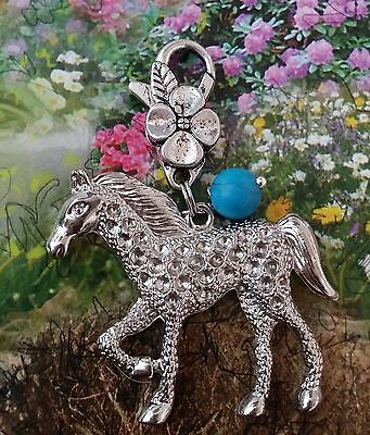Spirit Native Turquoise Horse Pendant Tack Charm Key Chain Zipper Appaloosa Gift • 8.97£