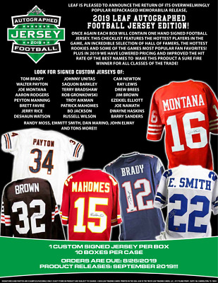 $20 • Buy 2019 Leaf Autograph Football Jersey - Random Division BREAK #82
