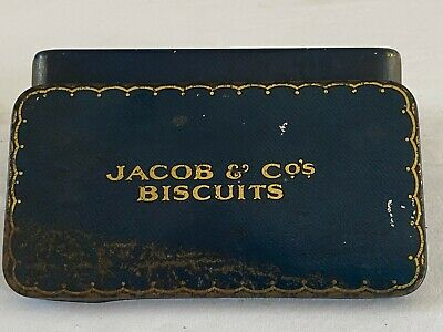 £10 • Buy Collectables: JACOB & Co's BISCUITS Tin ( Tin Only) Hinged ,used