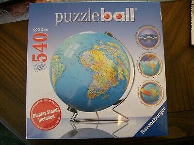 $11.37 • Buy Ravensburger Globe Puzzle Ball With Stand Nip Pub 2007 9  Diameter No 11 1183