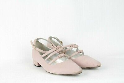 AU160.81 • Buy Alexa Chung Pink Satin Bow Ankle Strap Pumps Size 5 UK / 38 EU / US 7.5