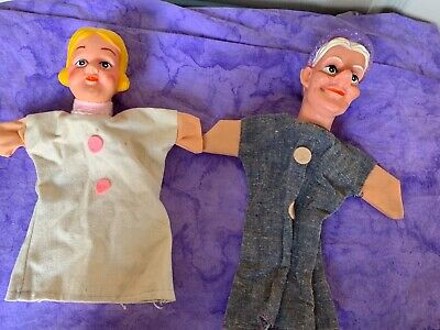 $23.90 • Buy Vintage Toy Hand Puppet Rubber Vinyl Face Mr Rogers Toy Princess Girl Old Lady