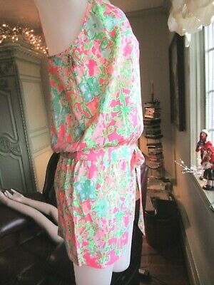 $42 • Buy Lilly Pulitzer ,deanna Romper Southern Charm S, Nwt, Polyester, Belt, Short