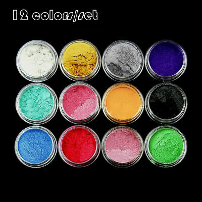 £2.46 • Buy 12 Color/Set Mica Pigment Powder Perfect For Dye Resin Color Soap Uk