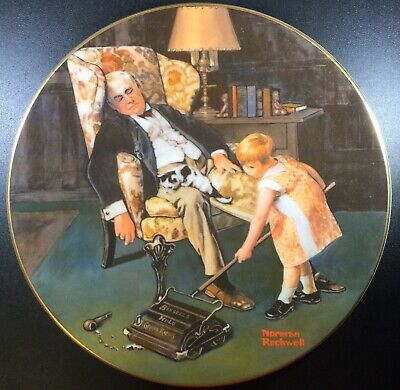 $ CDN27.24 • Buy Lot Of Four (4) Norman Rockwell Collector Plates!