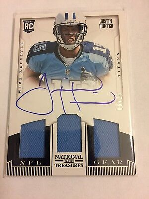 $14.99 • Buy 2013 National Treasures Auto Autograph Jersey Justin Hunter Rookie Card #6/25