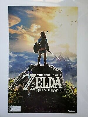 $11 • Buy The Legend Of Zelda: Breath Of The Wild Poster Double Sided