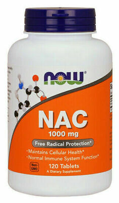 AU45.50 • Buy Now Foods NAC 1000 Mg 120 Tabs N-ACETYL-CYSTEINE Amino Acids, Immune Support