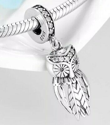 💎🎀 Sterling Silver 925 Wise Owl Charm & Pouch • 14.99£