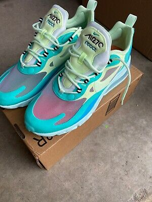 $81 • Buy Nike Air Max 270 React Hyper Jade/Frosted Spruce-Volt AO4971-301 Mens Size 9
