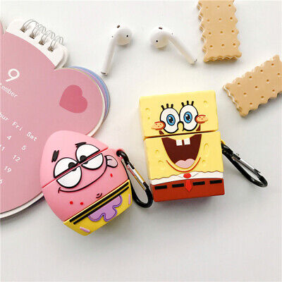 $ CDN7.91 • Buy For AirPods Case 3D SpongeBob Protective Silicone Earphone Charging Case Cover