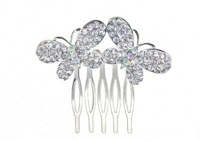 £5 • Buy Art Deco Beautiful Vintage Style Full Crystal Double BUTTERFLY Hair Comb.