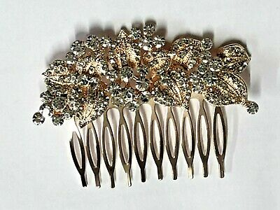 £6.50 • Buy Art Deco Beautiful Quality Vintage Style Full Crystal Rose Gold Hair Comb.