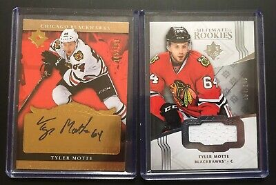 $ CDN8 • Buy 2016-17 Ultimate Hockey - Tyler Motte - 2 Card Lot -- Auto + Jersey