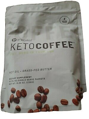 $40 • Buy Brand New It Works Keto Coffee 15 Packets MCT Oil Grass-Fed Butter Supplement