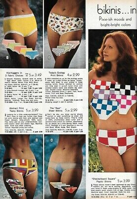 $19.99 • Buy Super Small Lot Of Vintage Catalog Lingerie Underwear Clippings