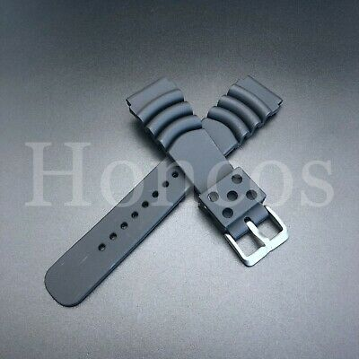 $ CDN11.63 • Buy For Seiko SKX173 Dive Black Rubber Watch Band Strap 22mm Lug Z-22 4F24ZZ Sport
