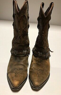 "$20 • Buy Crush Bu Durango Brown ""Concho"" 11"" Boots Size 9.5"