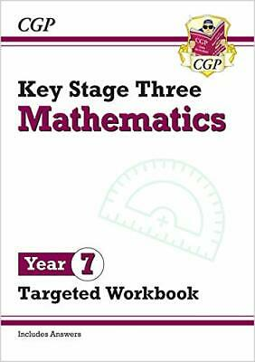 New KS3 Maths Year 7 Targeted Workbook With Ans By CGP Books New Paperback Book • 6.42£