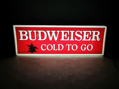 $ CDN164.78 • Buy Vintage 1976 Budweiser Beer Cold To Go Lighted Sign Light
