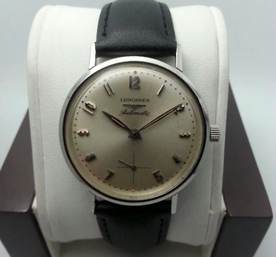 $ CDN3.18 • Buy Vintage Longines Automatic 1200 Stainless Steel Leather Band